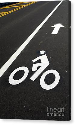Bicycle Lane Canvas Print by Olivier Le Queinec