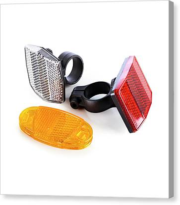 Bicycle Reflectors Canvas Print by Science Photo Library