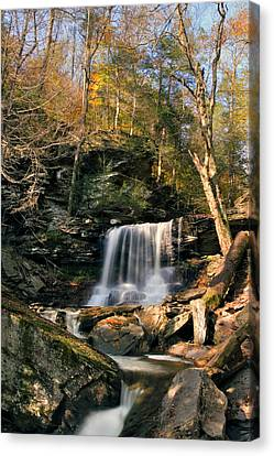 Big Autumn View At B. Reynolds Falls Canvas Print by Gene Walls