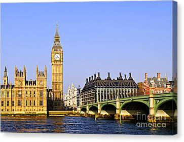 Big Ben And Westminster Bridge Canvas Print by Elena Elisseeva