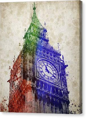 Big Ben London Canvas Print by Aged Pixel