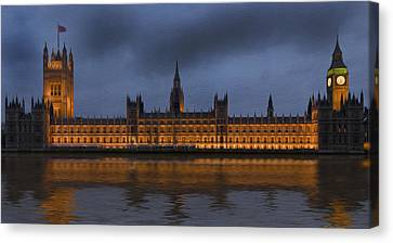 Big Ben Parliament London Digital Painting Canvas Print by Matthew Gibson