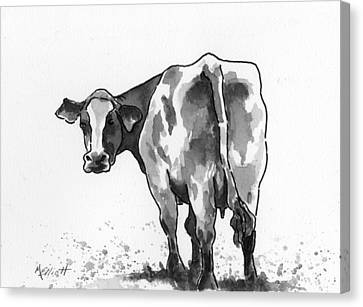 Big Bertha Blk/wht Canvas Print by Marsha Elliott