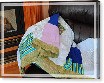 Big Blocks Patchwork Quilt Canvas Print by Barbara Griffin