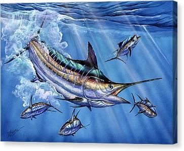 Big Blue And Tuna Canvas Print by Terry Fox
