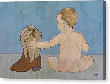 Big Boots To Fill Canvas Print by Ella Kaye Dickey