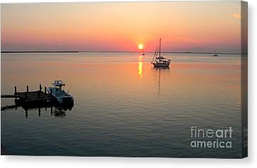 Big Chill Sunset Canvas Print by Carey Chen