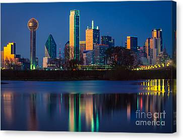 Big D Reflection Canvas Print by Inge Johnsson