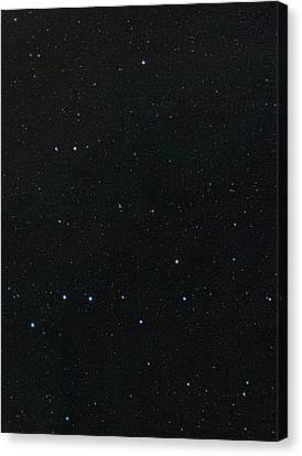 Big Dipper And Ursa Minor Constellation Canvas Print by Eckhard Slawik