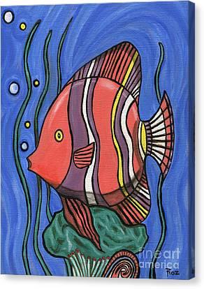 Big Fish Canvas Print by Roz Abellera Art