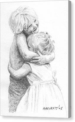 Big Hug Canvas Print by Michael Beckett