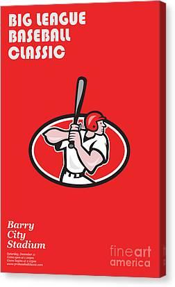 Big League Baseball Classic Poster  Canvas Print by Aloysius Patrimonio