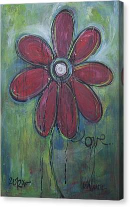 Big Love Daisey Canvas Print by Laurie Maves ART
