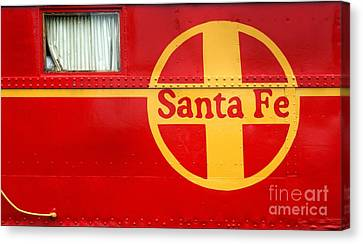 Big Red Santa Fe Caboose Canvas Print by Paul W Faust -  Impressions of Light