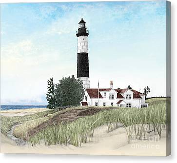 Big Sable Point Lighthouse Canvas Print by Darren Kopecky