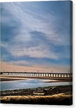 Big Skies Over The Pier Canvas Print by Eva Kondzialkiewicz