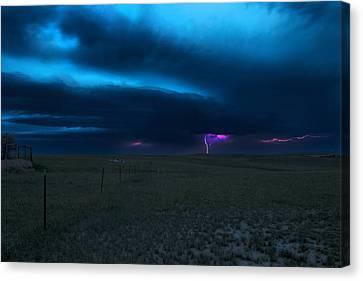 Big Sky Lightning  Canvas Print by Joshua Dwyer