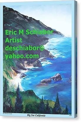 Big Sur Califorina Canvas Print by Eric  Schiabor