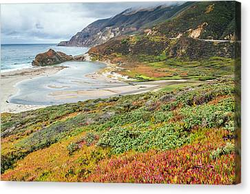 Big Sur California In Autumn Canvas Print by Pierre Leclerc Photography
