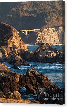 Big Sur Coastal Serenity Canvas Print by Mike Reid