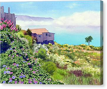 Big Sur Cottage Canvas Print by Mary Helmreich