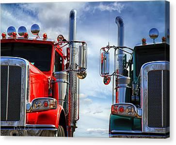 Big Trucks Canvas Print by Bob Orsillo