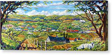 Big Valley By Prankearts Canvas Print by Richard T Pranke