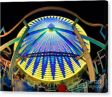 Big Wheel Keep On Turning Canvas Print by Mark Miller