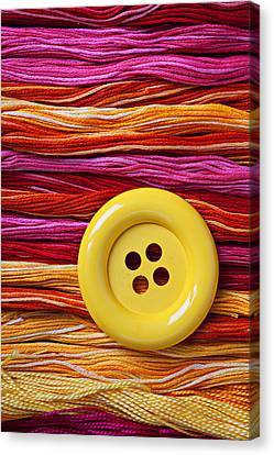 Big Yellow Button  Canvas Print by Garry Gay