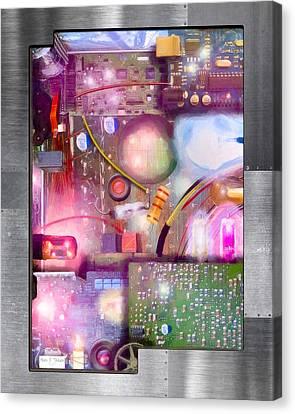 Bigger On The Inside - Techno Magic Canvas Print by Mark E Tisdale