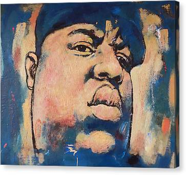 Biggie Smalls Art Painting Poster Canvas Print by Kim Wang