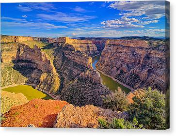 Bighorn Canyon Canvas Print by Greg Norrell