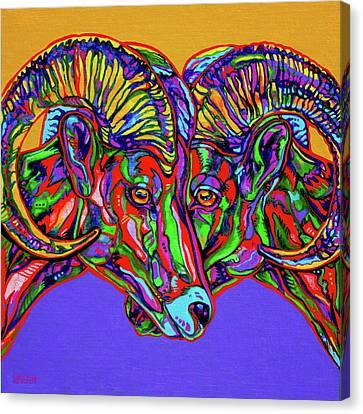 Bighorn Sheep Canvas Print by Derrick Higgins