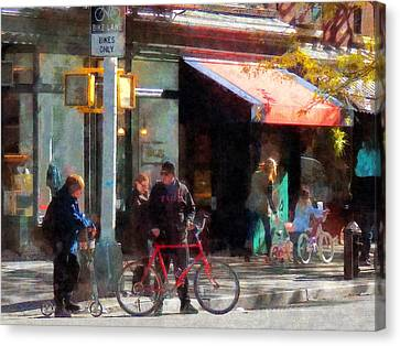 Bike Lane Canvas Print by Susan Savad
