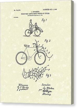 Bike Seat 1903 Patent Art Canvas Print by Prior Art Design