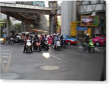 Bikes - Bangkok Thailand - 01132 Canvas Print by DC Photographer