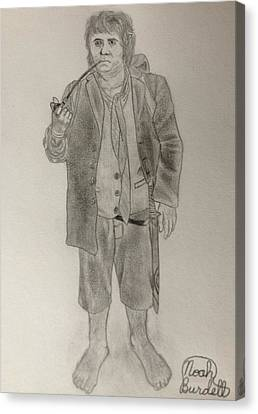Bilbo Baggins Canvas Print by Noah Burdett
