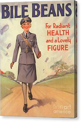 Bile Beans 1940s Uk Uniforms  Ww2 Canvas Print by The Advertising Archives