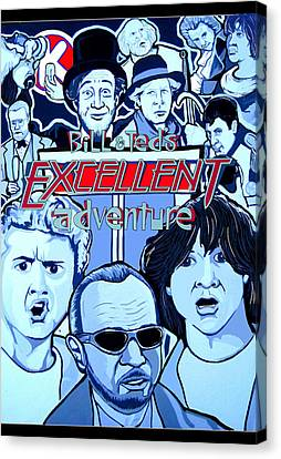 Bill And Teds Excellent Adventure Canvas Print by Gary Niles