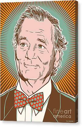 Bill Murray Pop Art Canvas Print by Jim Zahniser
