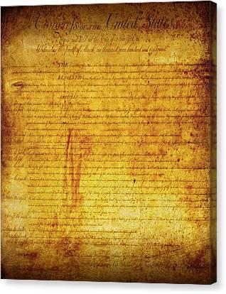 Bill Of Rights Canvas Print by Daniel Hagerman
