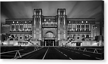 Bill Snyder Family Stadium - Bw Canvas Print by Thomas Zimmerman