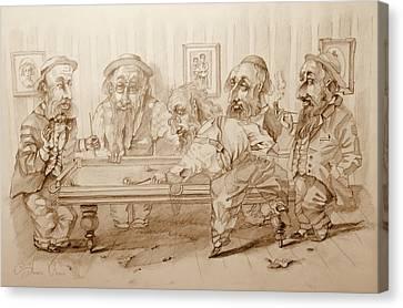 Billiard Players Canvas Print by Andrey Vutyanov