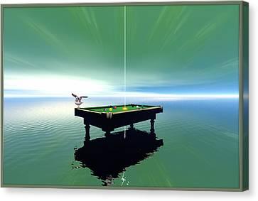 Billiard Table Canvas Print by Harald Dastis
