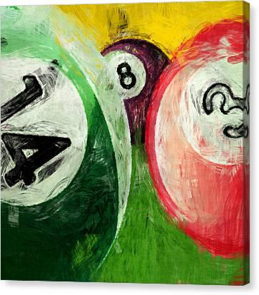 Billiards 14 3 8  Canvas Print by David G Paul