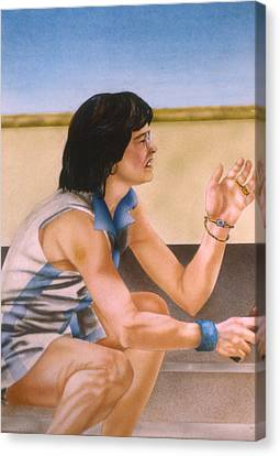 Billie Jean King Canvas Print by Phil Welsher