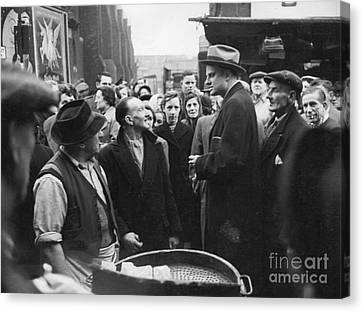 Billy Graham Jr. On A Boston Street 1950 Canvas Print by The Phillip Harrington Collection