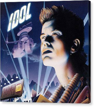 Billy Idol - Charmed Life 1990 Canvas Print by Epic Rights