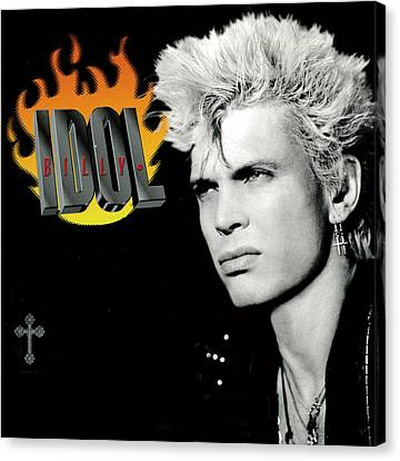 Billy Idol - Greatest Hits 2001 Canvas Print by Epic Rights