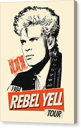 Billy Idol - Rebel Yell Tour 1984 Canvas Print by Epic Rights